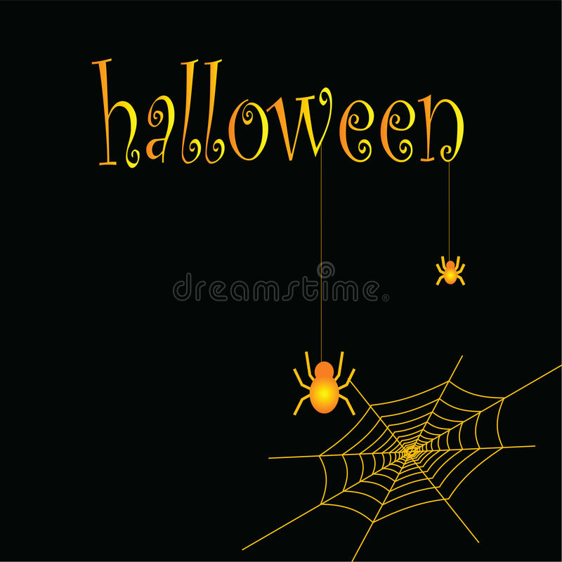 Pająki i pajęczyny jako symbol Halloween ilustracja wektor