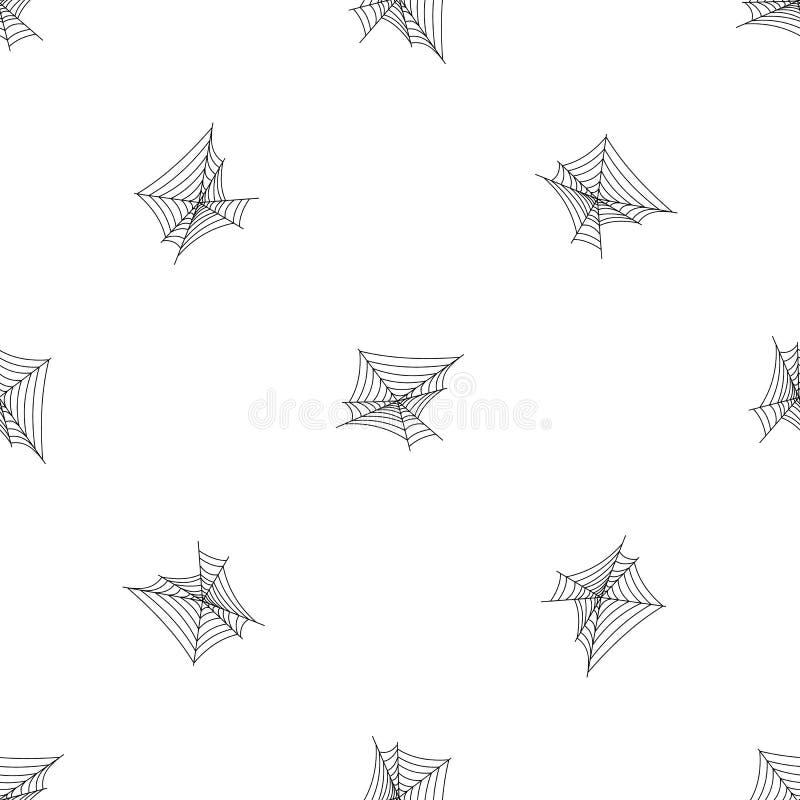 Pajęczyna deseniowy bezszwowy wektor royalty ilustracja