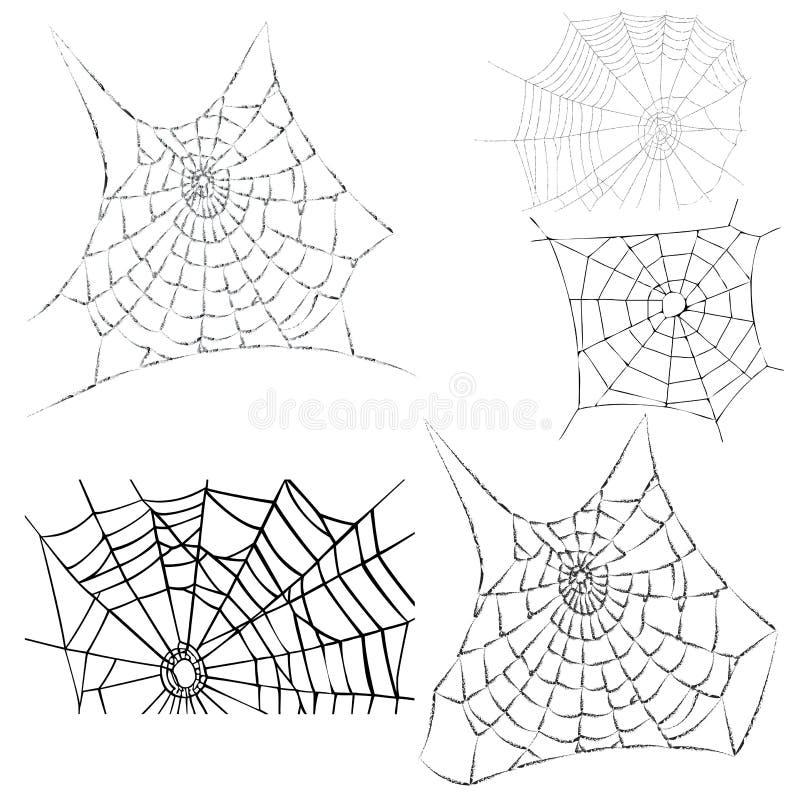 pajęczyny ilustracja wektor