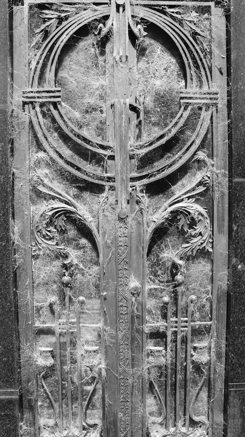 pajęczyny drzwiowe zdjęcia royalty free