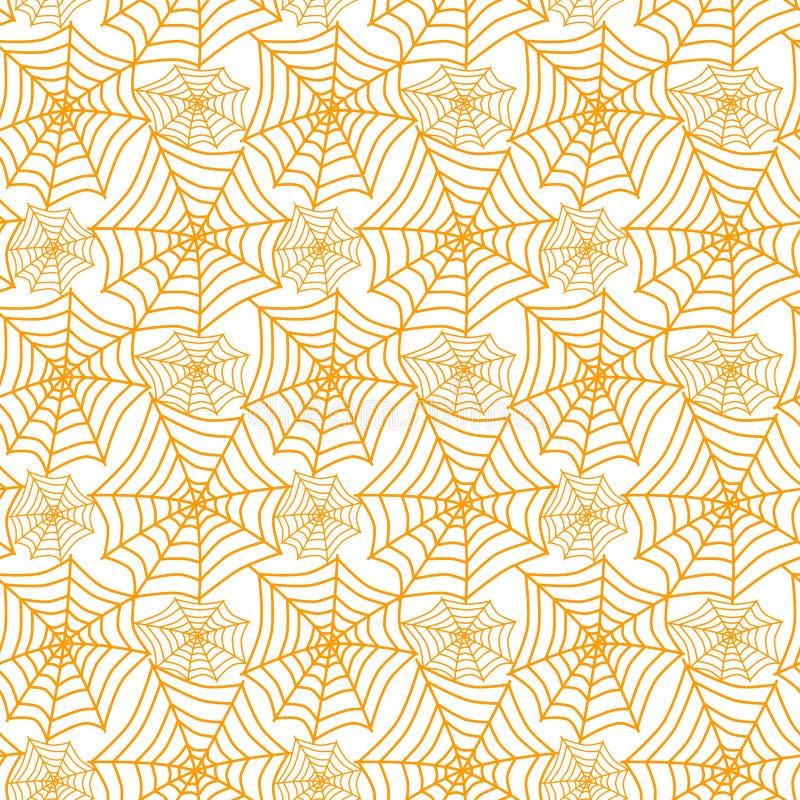 Pajęczyny geometryczna deseniowa bezszwowa tekstura royalty ilustracja