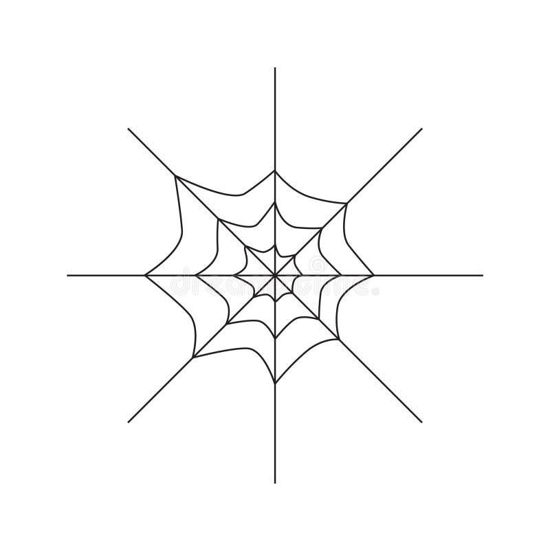 Pajęczyny ikona ilustracja wektor