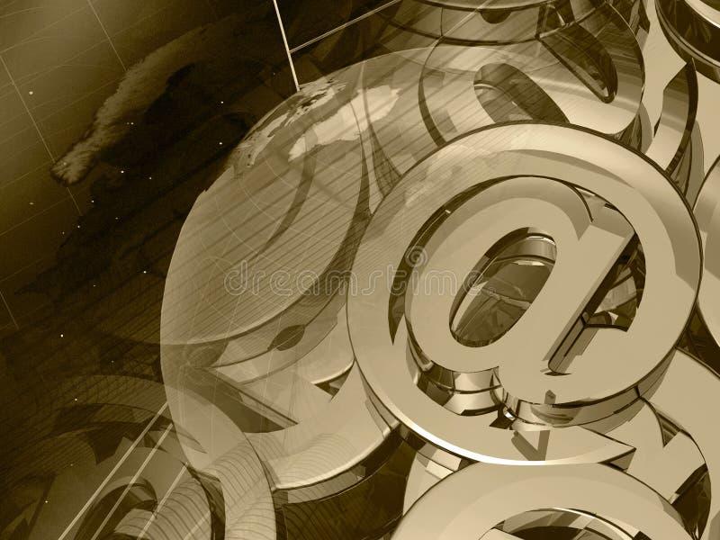 pajęczyny kolażu kuli ziemskiej poczta znaki ilustracji
