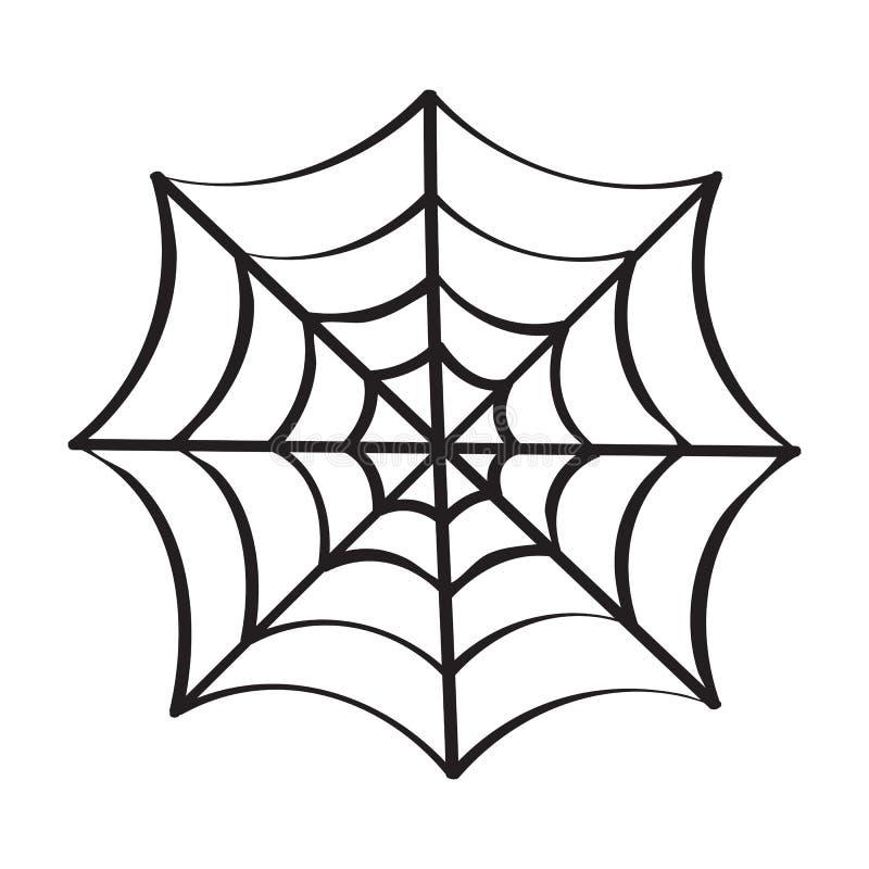 pajęczyny odosobniona ilustracja royalty ilustracja