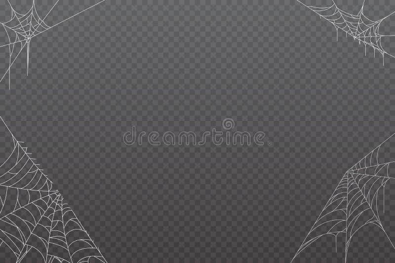 Pajęczyny tło dla Halloweenowego projekta ilustracji