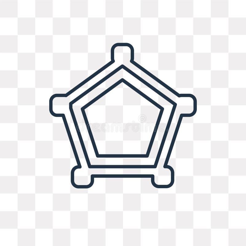 Pajęczyny wektorowa ikona odizolowywająca na przejrzystym tle, liniowy Co royalty ilustracja