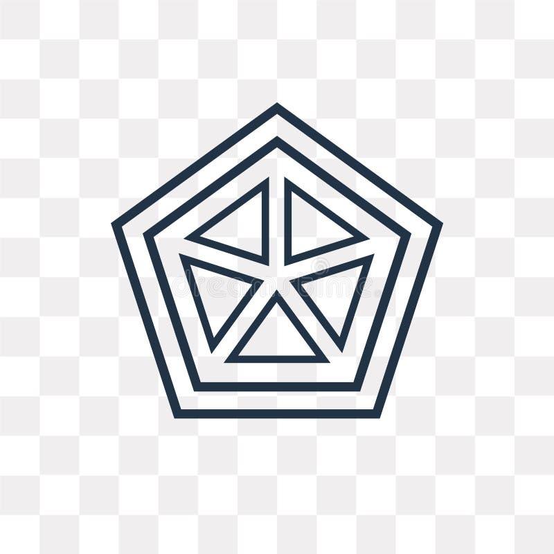 Pajęczyny wektorowa ikona odizolowywająca na przejrzystym tle, liniowy Co ilustracja wektor