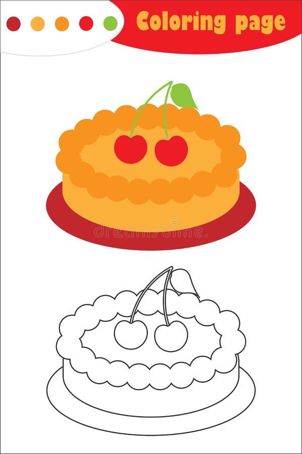 Paj i tecknad filmstil som färgar sidan, utbildningspapperslek för utvecklingen av barn, förskole- aktivitet för ungar vektor illustrationer