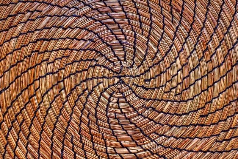 Paja de mimbre circular imagen de archivo