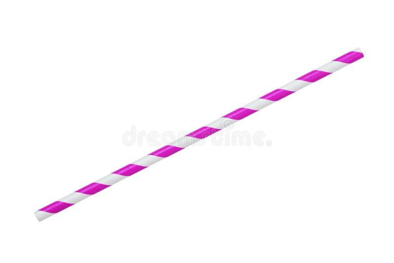 Paja rayada púrpura del papel del eco aislada en blanco fotografía de archivo libre de regalías