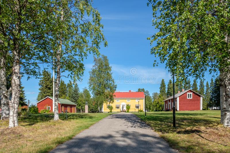 Pajala in northern Sweden stock photos