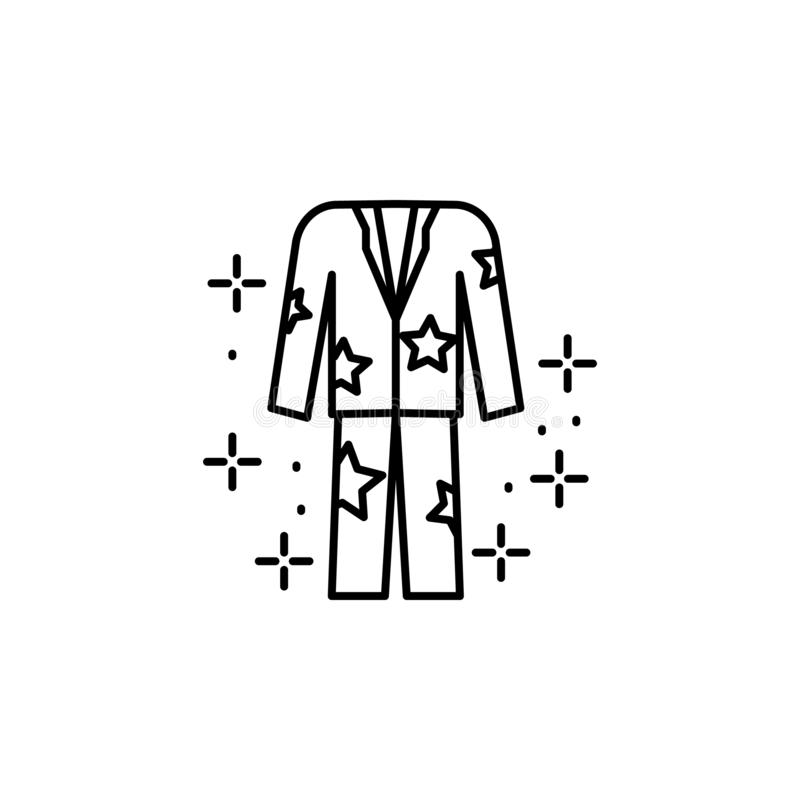 Pajamas clothes icon. Element of sweet dreams icon vector illustration