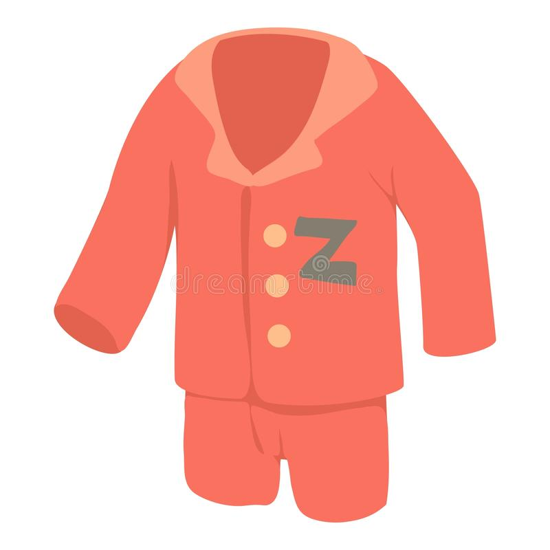 Pajamas icon, cartoon style vector illustration