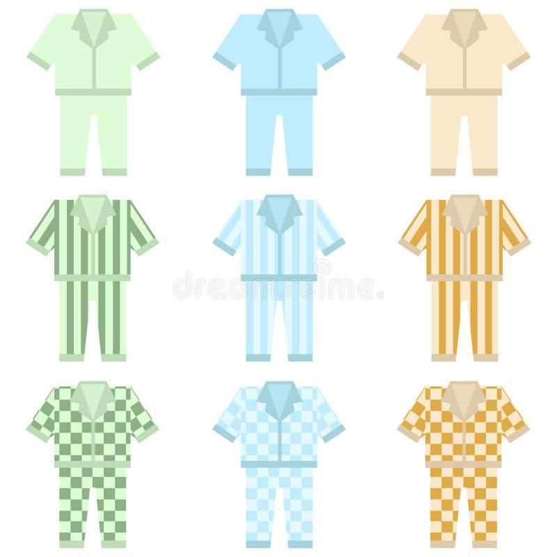 Pajamas icon. Flat design, vector illustration, vector royalty free illustration