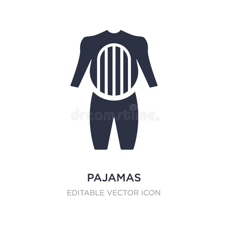 pajamas icon on white background. Simple element illustration from Fashion concept vector illustration