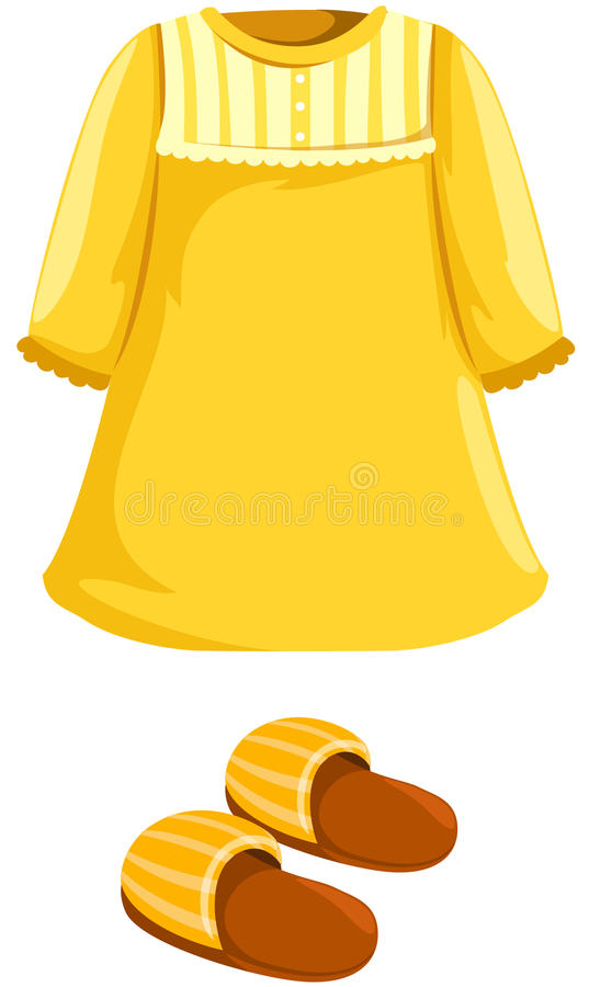 Download Pajamas with slipper stock vector. Image of illustration - 24254405