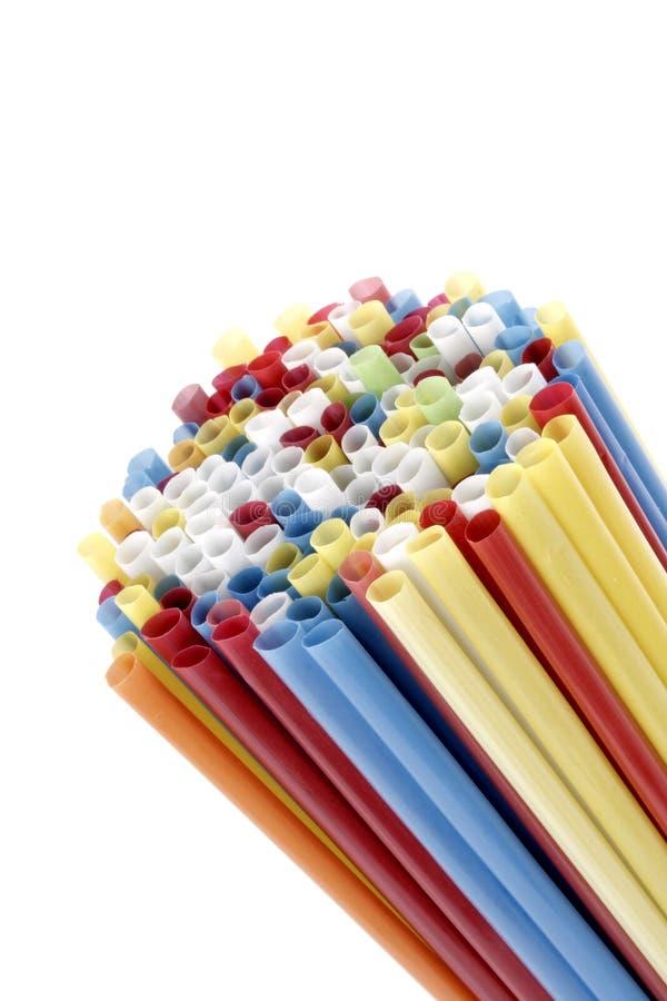 Pajas de beber coloreadas foto de archivo