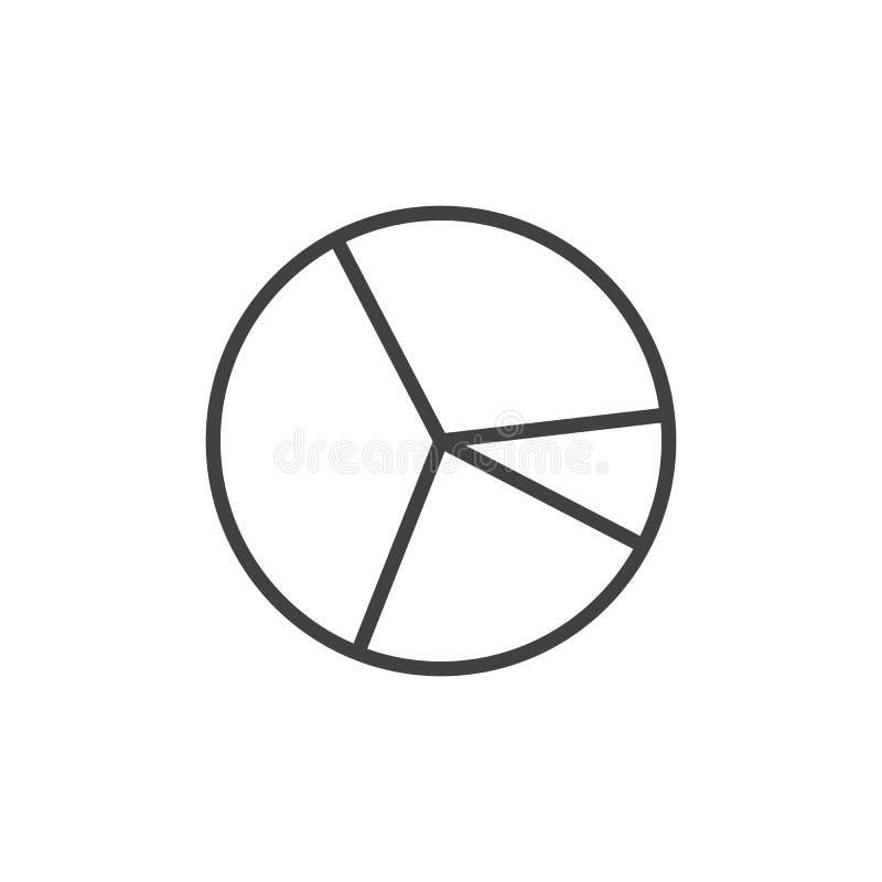 Pajdiagramlinje symbol vektor illustrationer