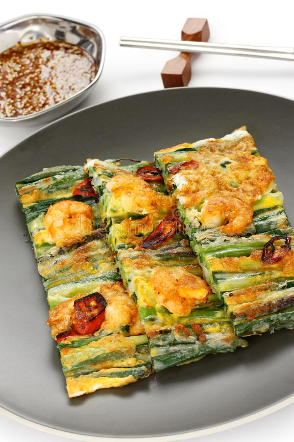 Pajeon, alimento coreano imagem de stock royalty free