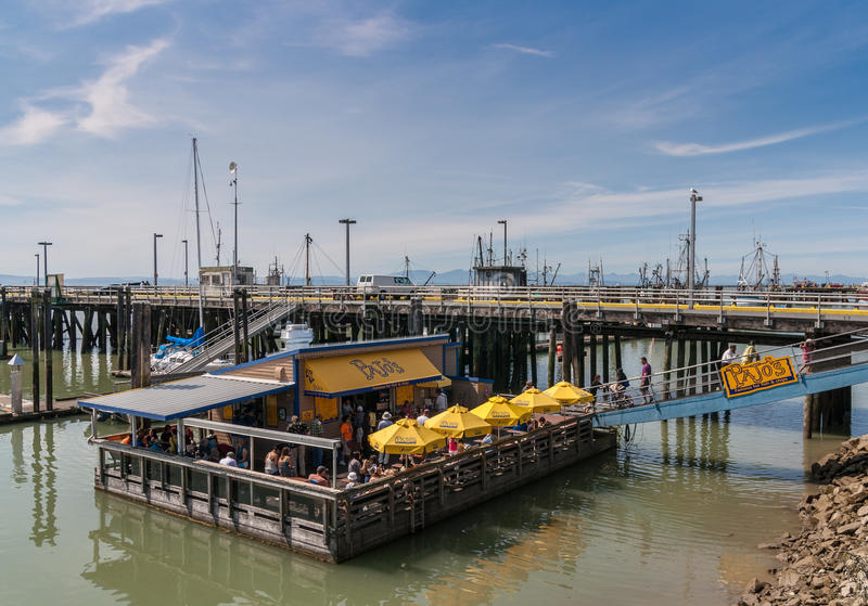 Pajo's in Steveston Village stock image