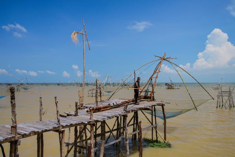 Pak Pra-Phatthalung södra Thailand arkivfoto