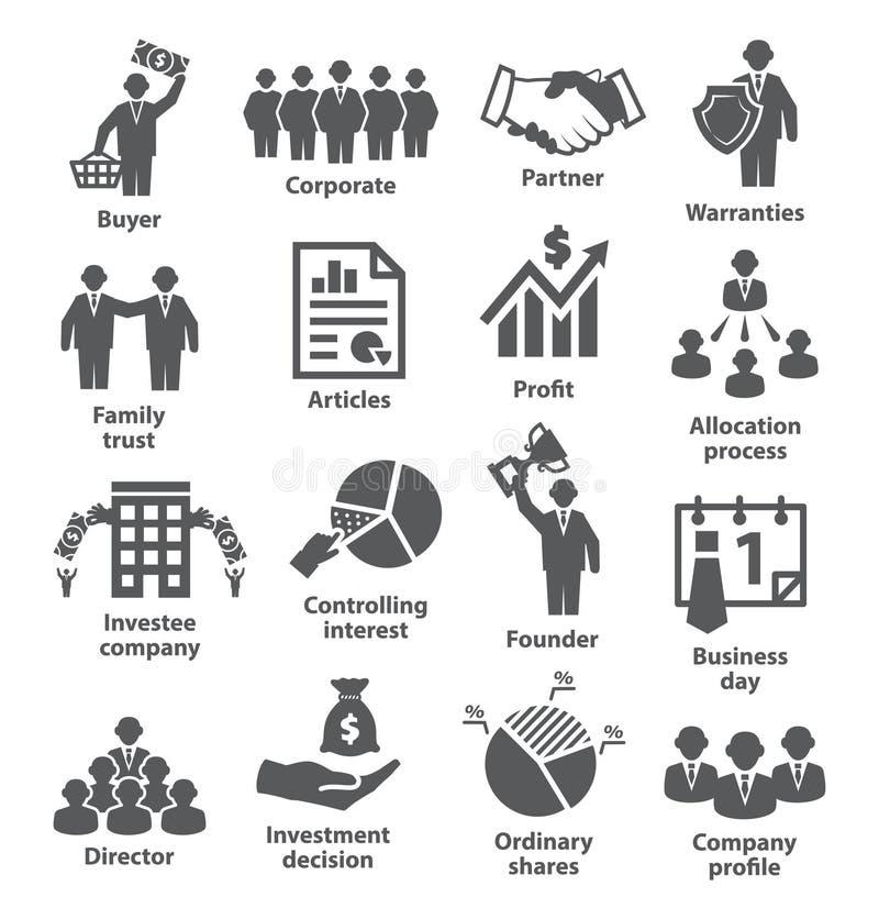 Pak 38 van bedrijfseconomiepictogrammen vector illustratie