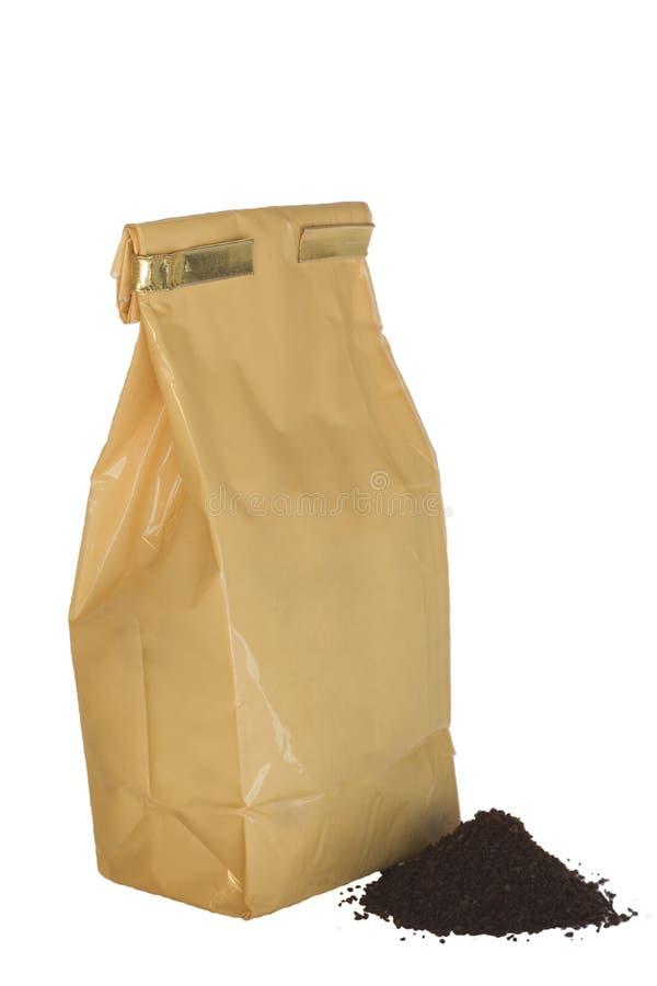 Pak van koffie stock afbeeldingen