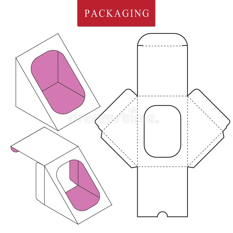 Pakaging design for food.Vector Illustration of Box.Package Template. royalty free illustration