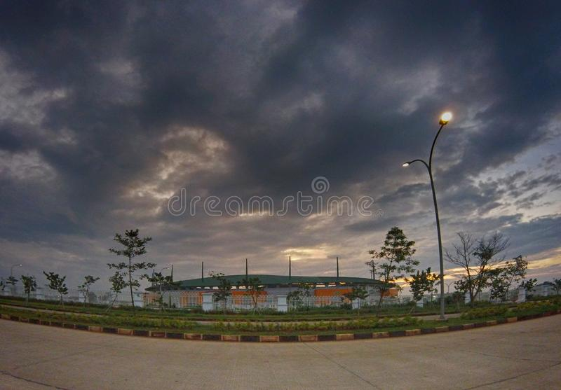 PakanSari Stadion Cibinong Bogor стоковая фотография rf