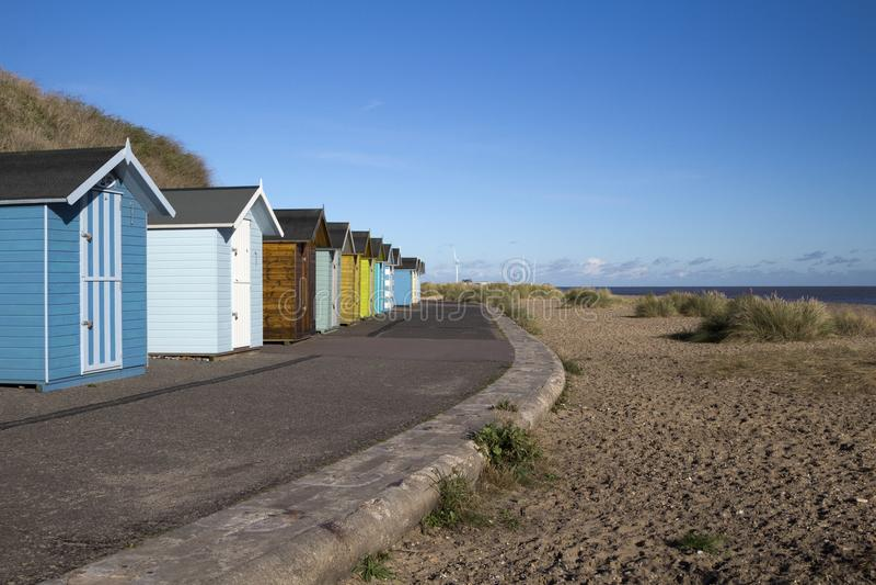 Pakefield-Strand, Suffolk, England lizenzfreie stockfotografie