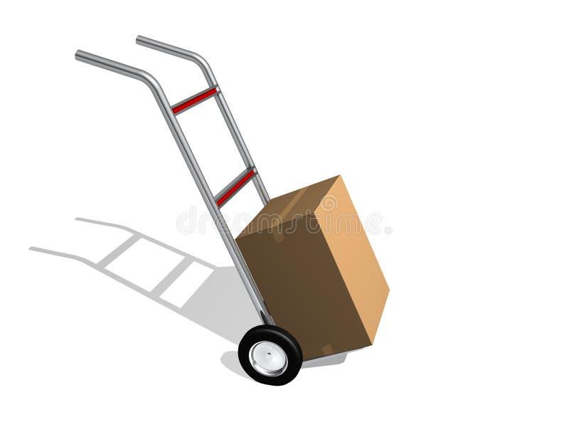 Paket-Anlieferung vektor abbildung