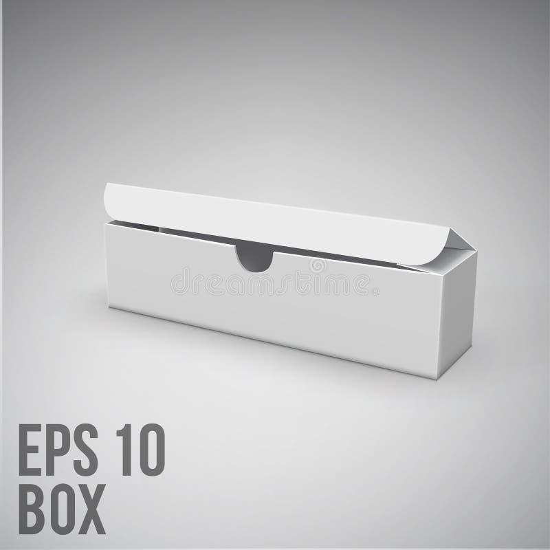 Paket ENV 10 Modell des weißen Kastens Papp vektor abbildung