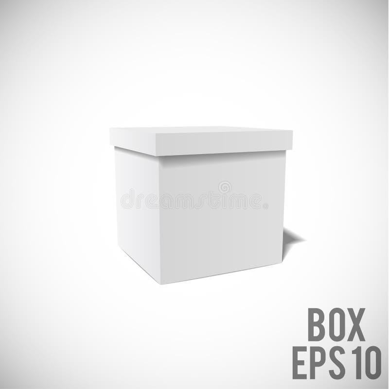 Paket ENV 10 Modell des weißen Kastens Papp lizenzfreie abbildung