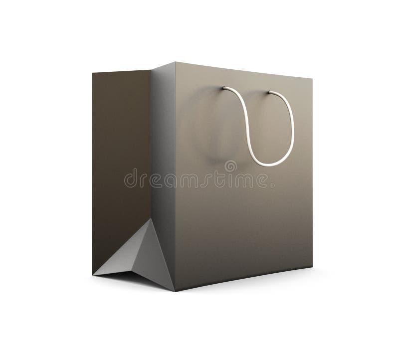 Paket für Käufe das Schwarze auf einem weißen Hintergrund vektor abbildung