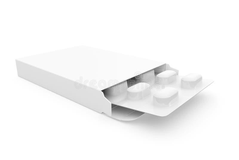 Paket Tablets Leerzeichen stock abbildung