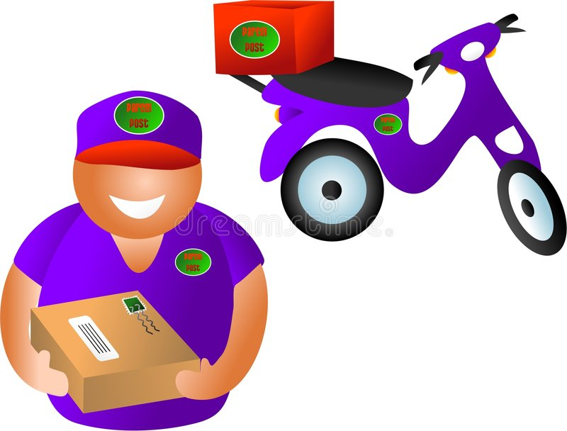 Paketanlieferung stock abbildung