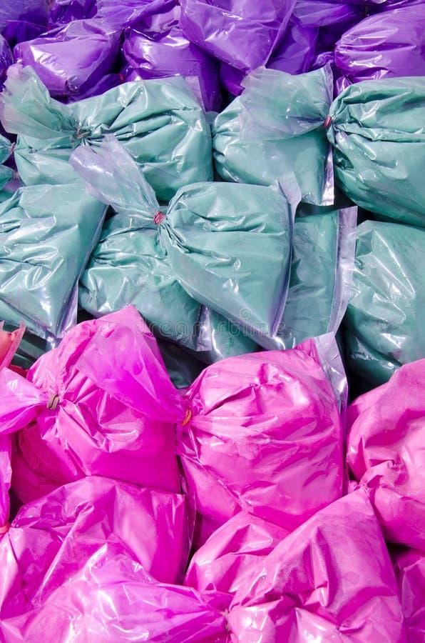 Pakete der organischen Farbe lizenzfreies stockfoto