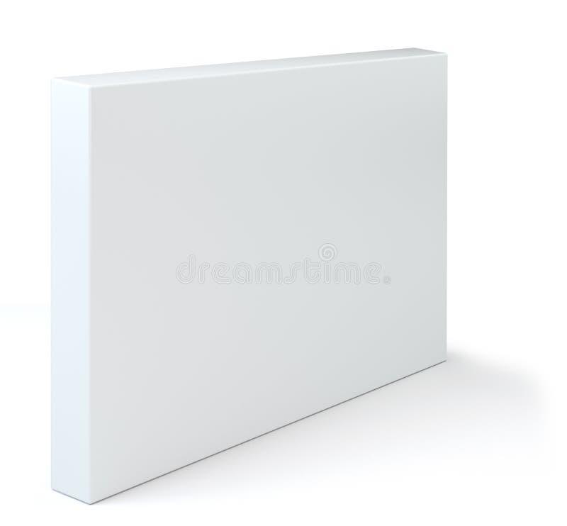 Paketmodell des weißen Kastens mit Schatten für Ihr Design Leere Behälter- oder Pappschablone für Kosmetik, Medizin stock abbildung