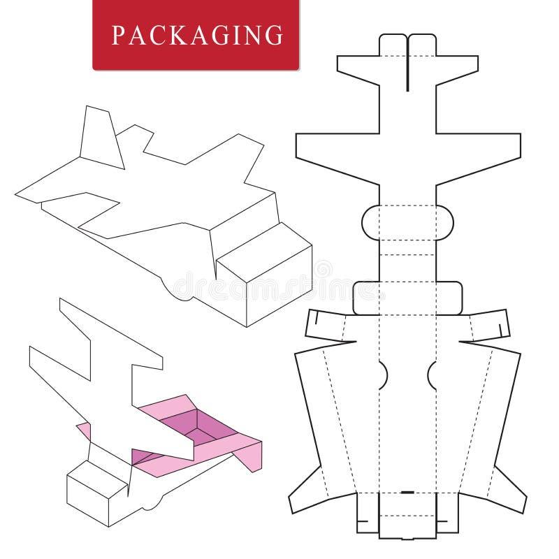 Paketschablone Lokalisierter wei?er Kleinspott oben lizenzfreie abbildung