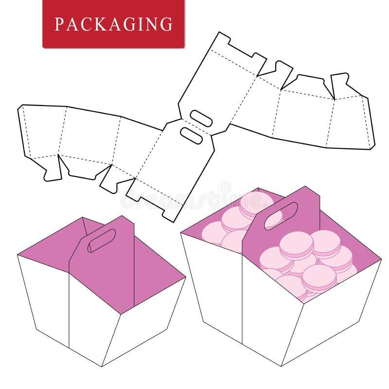 Paketschablonen-Picknickkonzept lizenzfreie abbildung