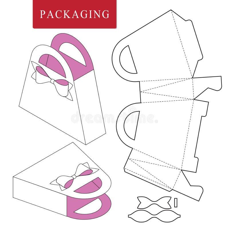 Paketschablonen-Picknickkonzept stock abbildung