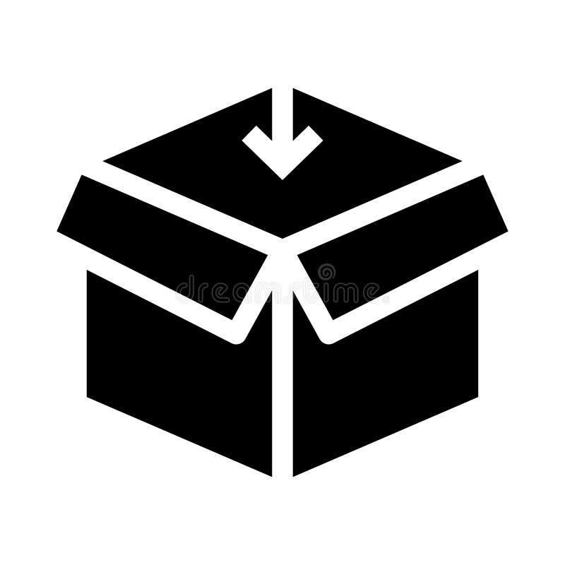 Paketsucheglyphsikone lizenzfreie abbildung