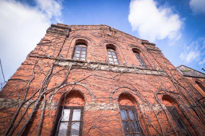 Pakhuis van de Kanemori het Rode Baksteen, Hakodate, Hokkaido Japan royalty-vrije stock fotografie