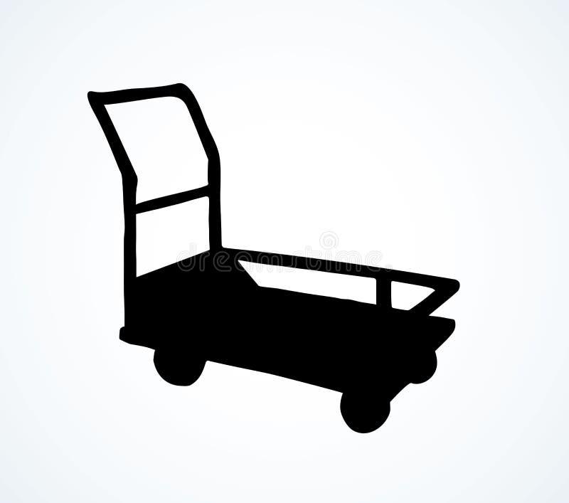 Pakhuiskarretje Vector tekening vector illustratie