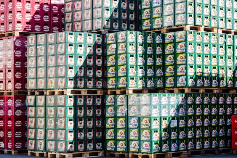Pakhuisplaats in Starobrno-Brouwerij in Brno, Tsjechische Republiek stock foto's