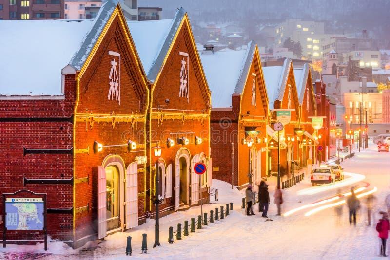 Pakhuizen van Hokkaido, Japan stock foto
