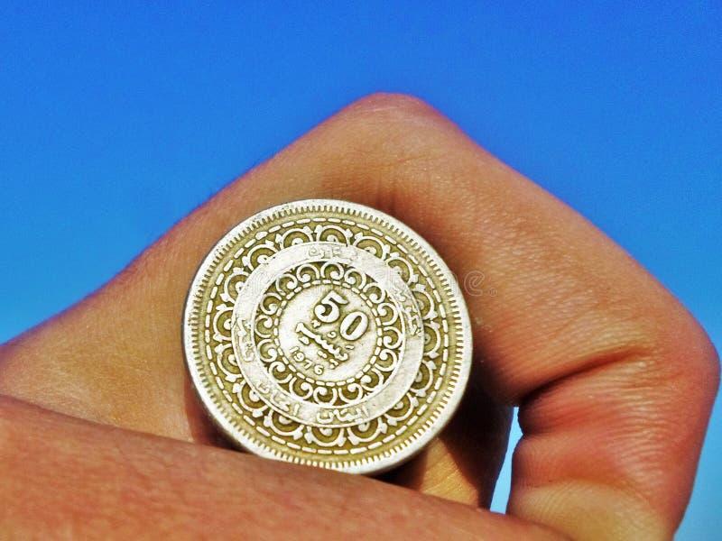 Pakistaans vijftig Paisa muntstuk op platinajubileum van Jinnah