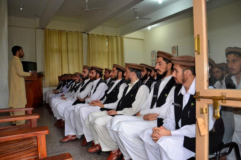 Pakistan Army Taliban deradicalization center Swat. The Swat Valley fell to Islamic Taliban militants for a few years until 2009. Following a hard fought stock photo