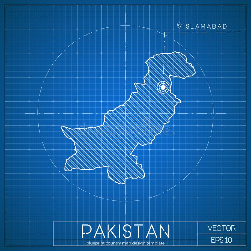 Pakistan blueprint map template with capital city stock vector download pakistan blueprint map template with capital city stock vector illustration of blue malvernweather Choice Image