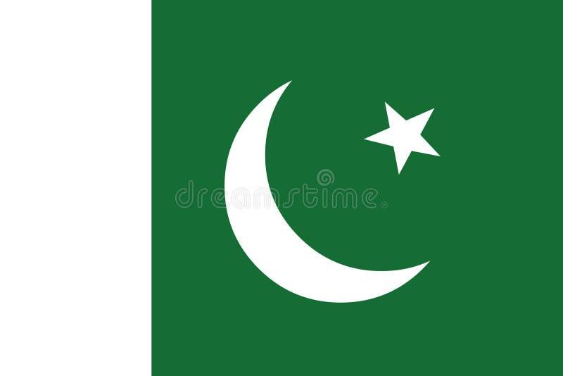 Pakistan flag vector.Illustration of Pakistan flag stock illustration